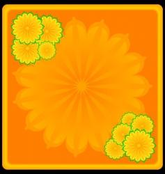 flower framework vector image