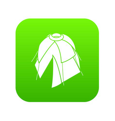 Flower tent icon green vector