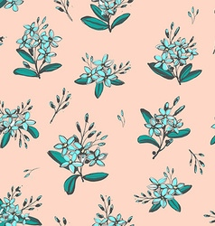 Forget-me-not blue flowers bouquets seamless hand vector image