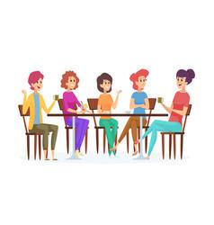 girlfriends meeting cute women party female vector image