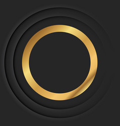 Gold round frame or golden luxury circle border vector