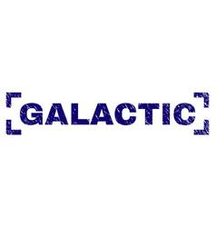 Grunge textured galactic stamp seal between vector
