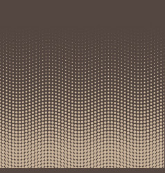 Halftone background of dots in wavy arrangement vector