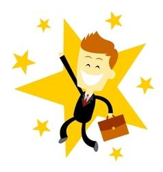 Happy Success Business Man vector