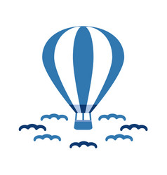 hot balloon vector image
