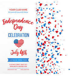 Independence day celebration fourth of july vector