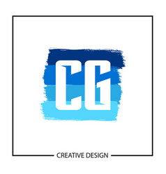 initial letter cg logo template design vector image