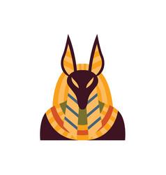 Jackal head ancient egyptian god anubis vector