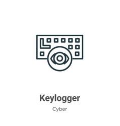 Keylogger outline icon thin line black keylogger vector