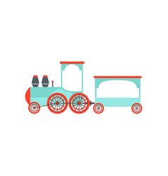 kids cartoon toy passenger train railroad toy vector image