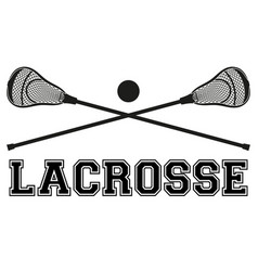 Lacrosse sticks and ball Flat style vector
