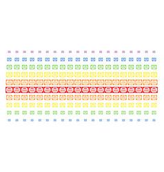 License shape halftone spectral grid vector