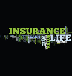 life insurance coverage text background word vector image