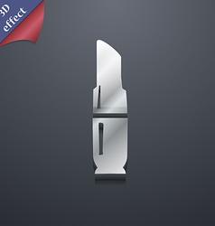 Lipstick icon symbol 3D style Trendy modern design vector
