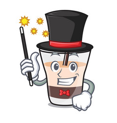 Magician white russian mascot cartoon vector