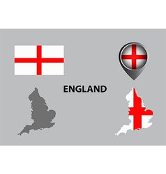 Map of England and symbol vector image