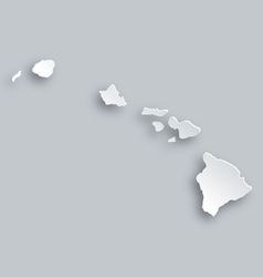 Map of Hawaii vector image
