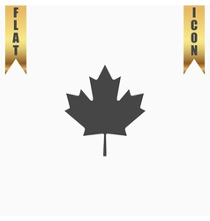 maple leaf flat icon vector image