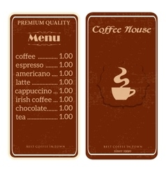 Menu for coffee shop restaurant vector