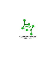 molecule leaf logo vector image