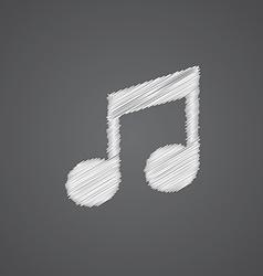 Music sketch logo doodle icon vector