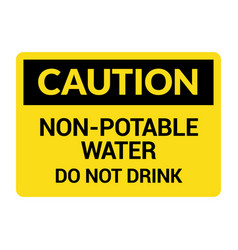 non potable water sign drinkable faucet forbidden vector image