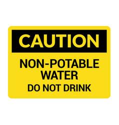 Non potable water sign drinkable faucet forbidden vector