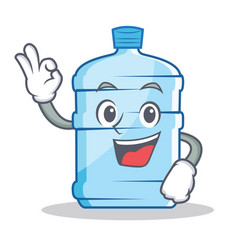 Okay gallon character cartoon style vector