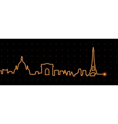 Paris Cardiogram vector