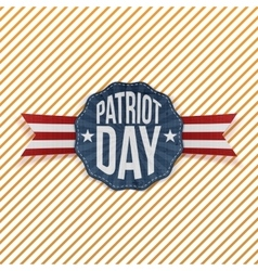Patriot Day Text on festive Emblem vector image