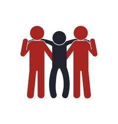 Pictogram human help support icon graphic vector