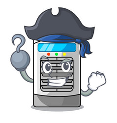 Pirate mascot air cooler mounted on wall vector