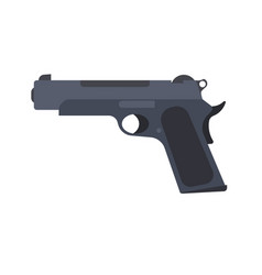 pistol gun revolver isolated handgun weapon white vector image