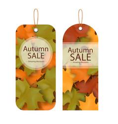 Price tag autumn sale amazing discounts ima vector