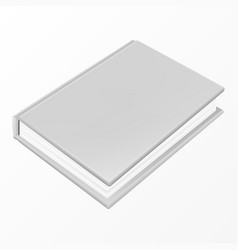 realistic white book with a blank cover vector image
