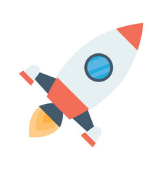 rocket space ship take off vector image