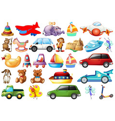 Set different toys vector