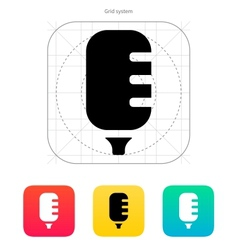 Studio microphone icon vector