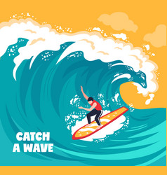 surfing water wave background vector image