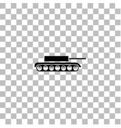 Tank icon flat vector