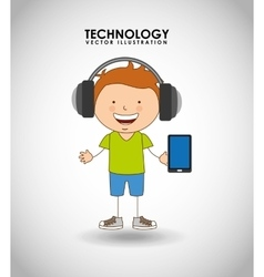 Technological kids vector