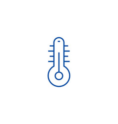 thermometer line icon concept vector image