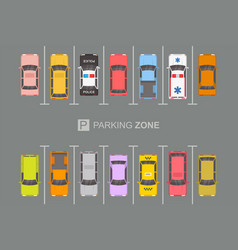 Top view of parking zone vector