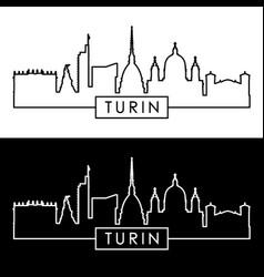 turin skyline linear style editable file vector image