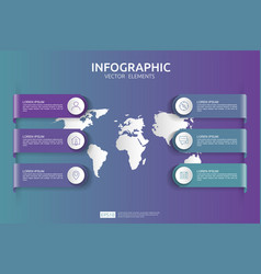 web6 steps infographic timeline design template vector image