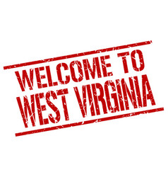 Welcome to west virginia stamp vector