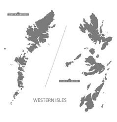 Western isles scotland map grey vector