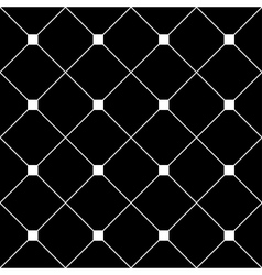 White Square Diamond Grid Black Background vector
