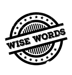 Wise Words rubber stamp vector image
