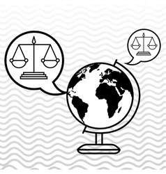 world and justice isolated icon design vector image